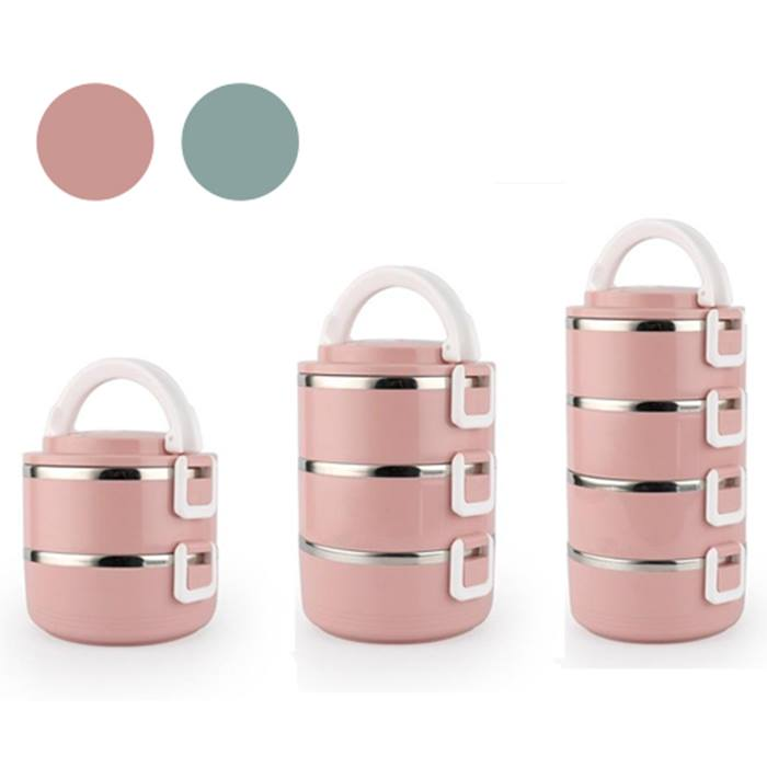 Multi-Layer Insulated Stainless Steel Lunch Box - 2 Colours