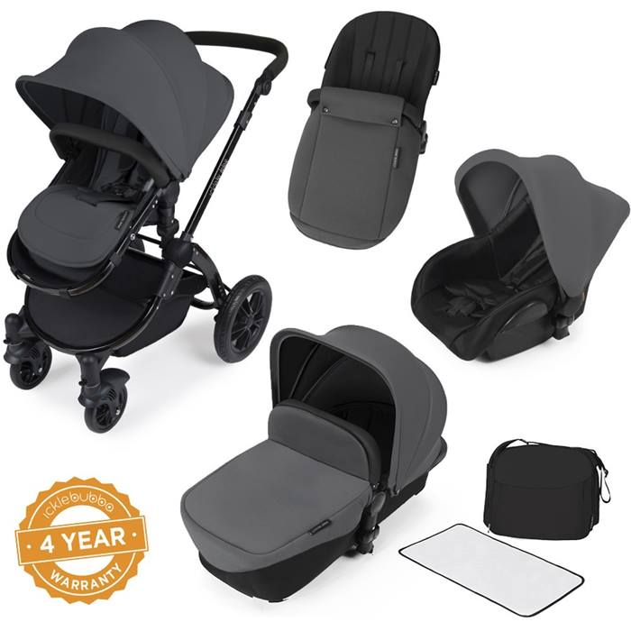 ickle bubba Stomp V2 Silver All-in-One Travel System