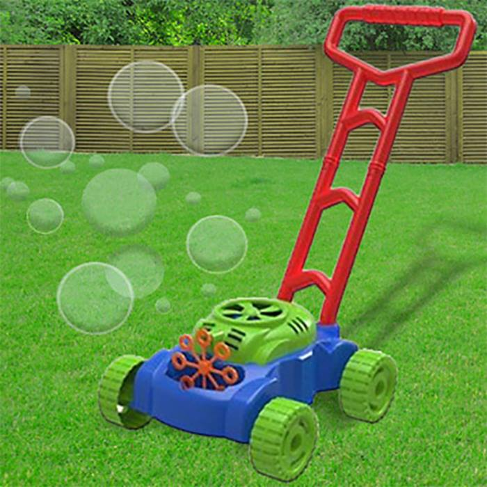Kids Auto Bubble Blowing Lawn Mower