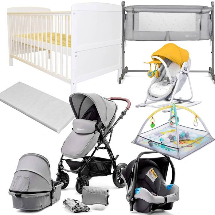 Kinderkraft Moov Cot Bed Bundle