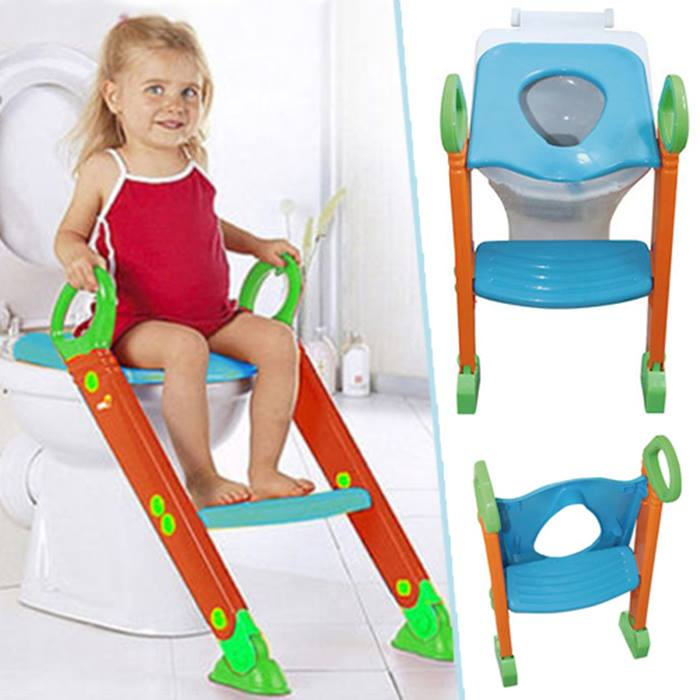 2-In-1 Toddler Toilet Seat Trainer With Step Ladder