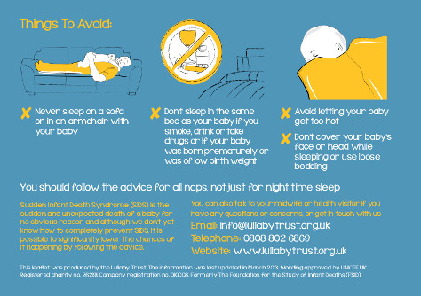 Co-sleeping: What not to do