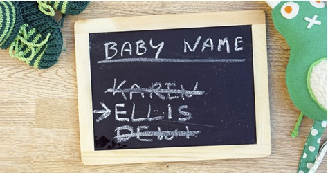 Baby names blackboard