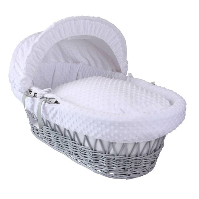Clair de Lune Wicker Moses Basket