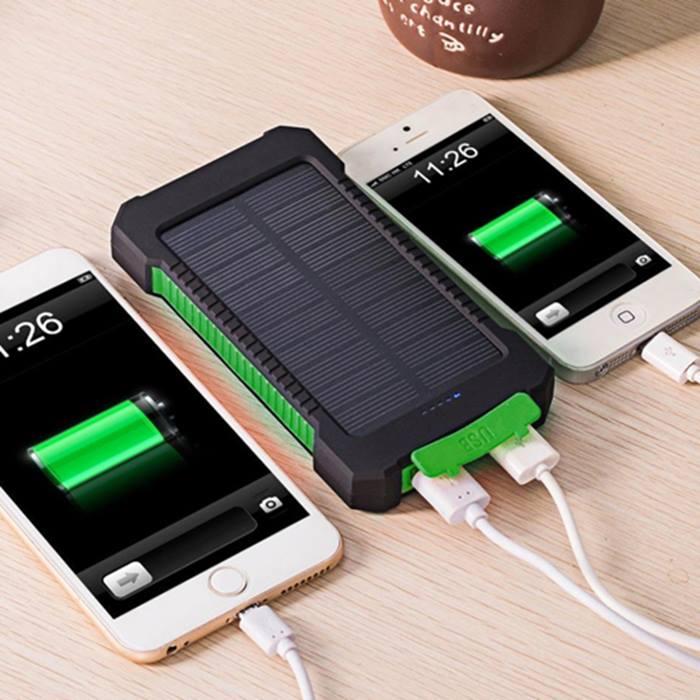 Dual USB Solar Power Bank With Flashlight - 5000mAh