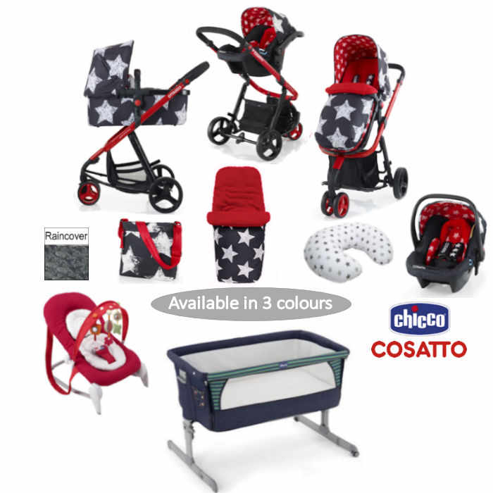 cosatto_3_in_1_pram_travel_system-giggle- Hipstar BUNDLE new