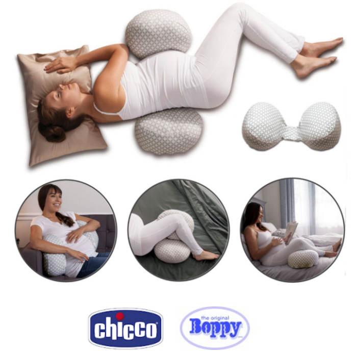 Chicco Boppy Bump Back 3 In 1 Support Pillow Glacier
