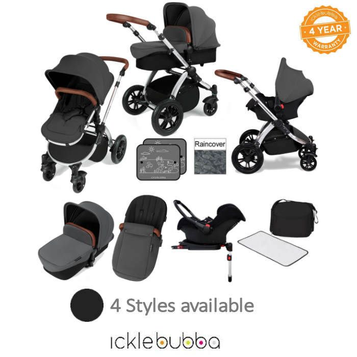 Ickle bubba Stomp V3 Silver All In One Travel System Isofix Base