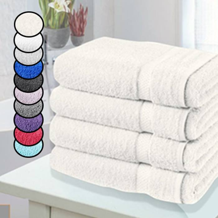 4 x Jumbo Egyptian Cotton Bath Towels - 14 Colours