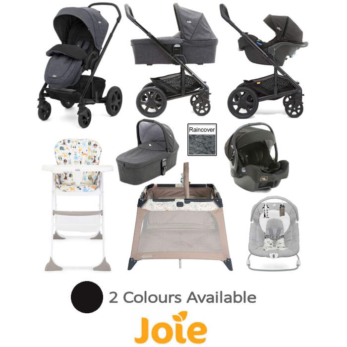 Joie Chrome DLX all You Need Travel System Carrycot Bundle