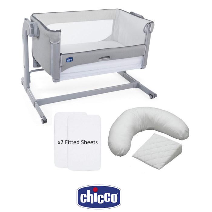 Chicco Next 2 Me Magic Crib, Sheets & Pillow Pack Bundle