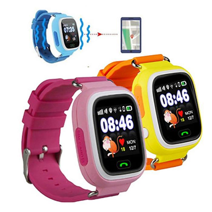 Q90 Child Safety GPS Tracker Smartwatch - 3 Colours