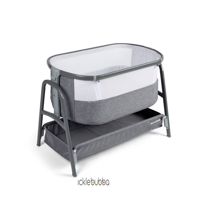 Ickle Bubba Bubba&Me Bedside Crib - Space Grey