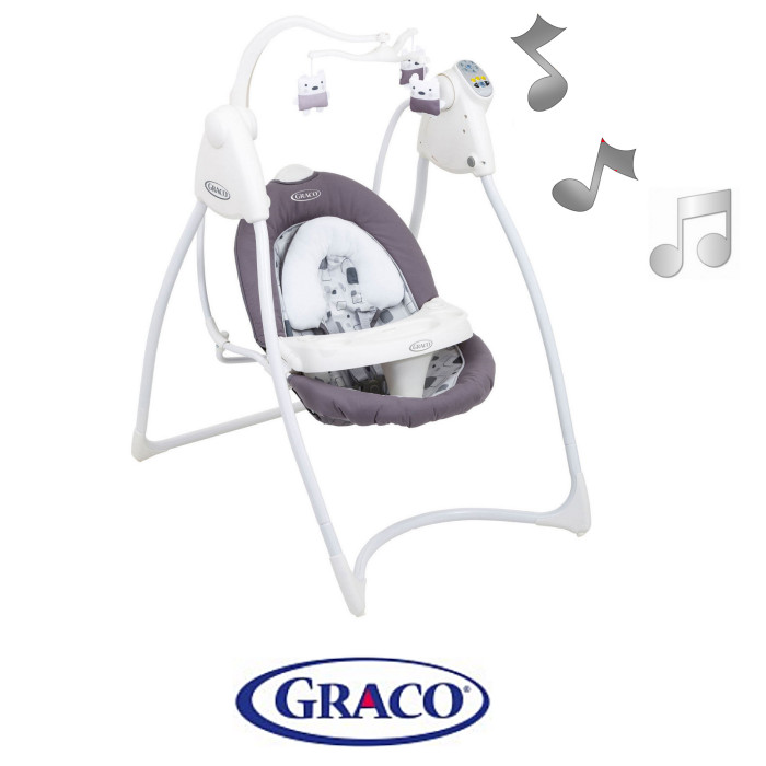 Graco Lovin Hug Baby Swing With Plug Block Party