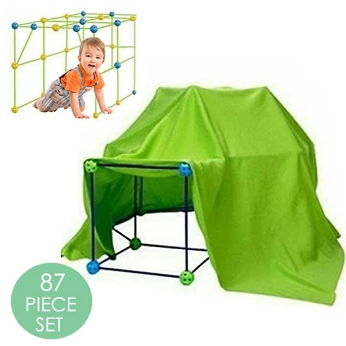 67, 87 or 156-Piece Rainy Day Fort Building Kit