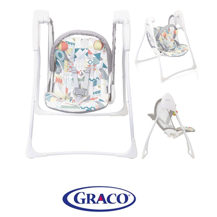 Graco Baby Delight Swing - Patchwork Grey