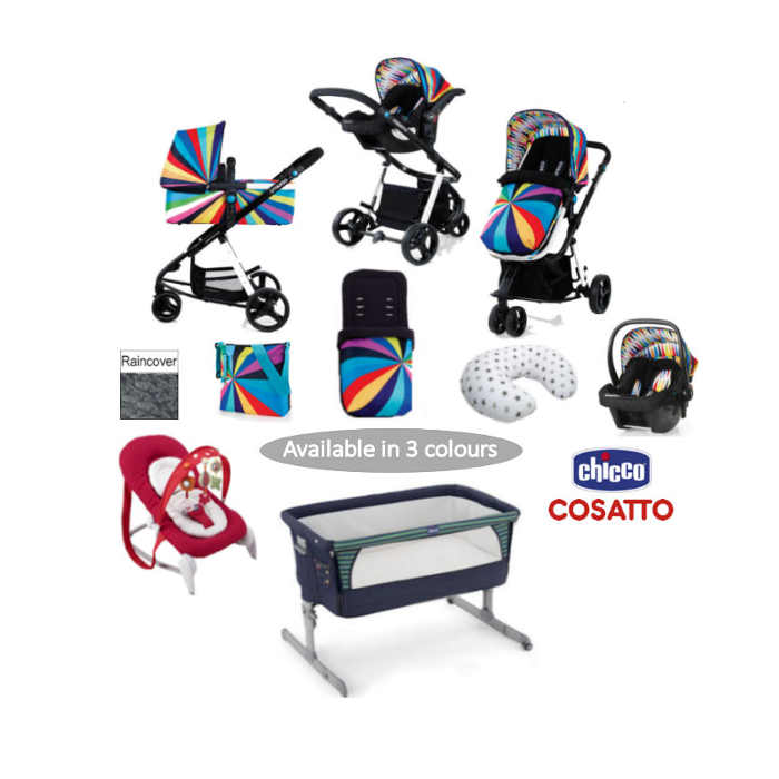 cosatto_3_in_1_pram_travel_system-giggle- GO BRIGHTLY BUNDLE new