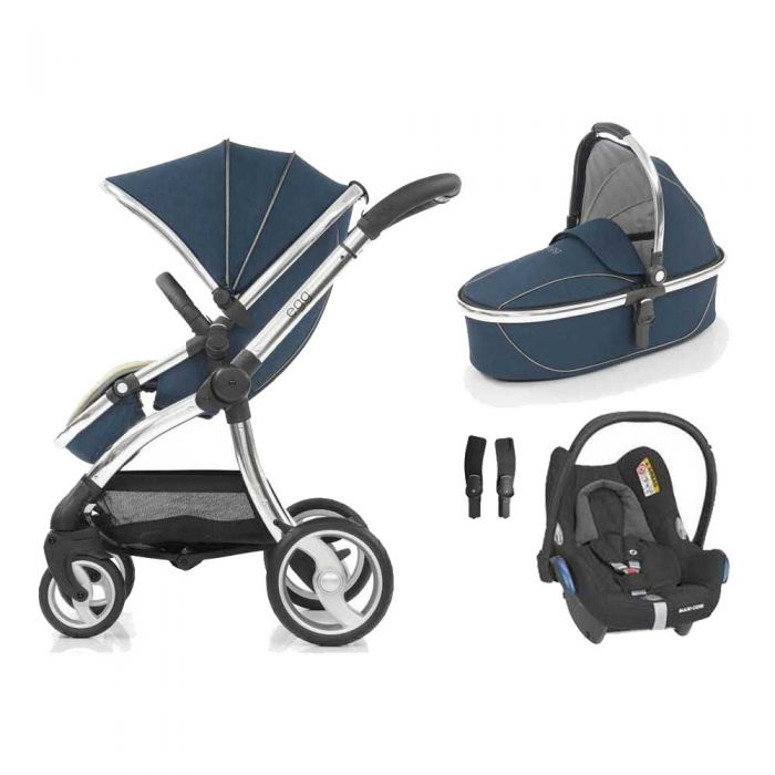 egg Pushchair Deep Navy & Cabriofix Car Seat Bundle