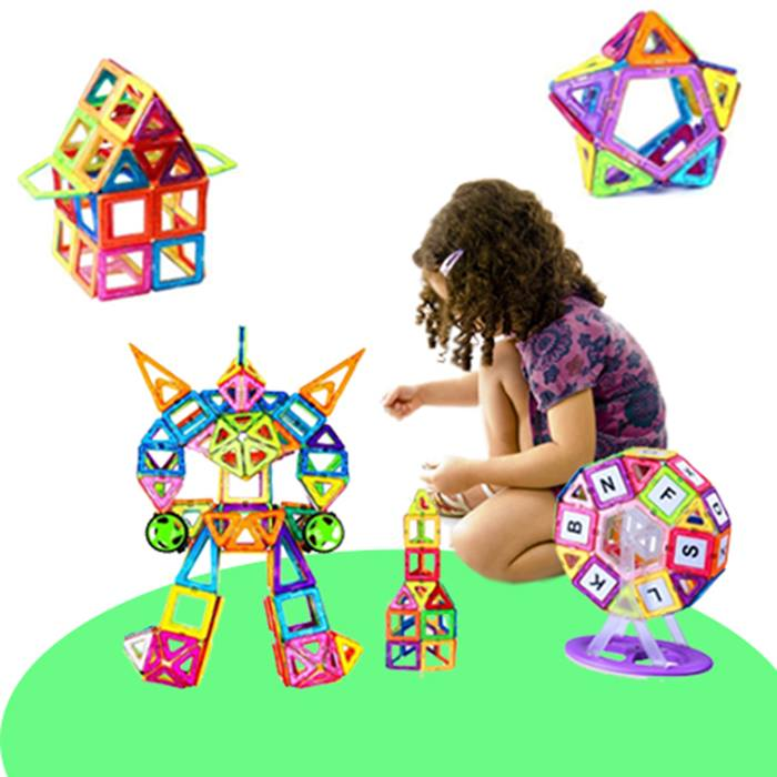 Magnetic Building Blocks - 64 or 95 Pieces