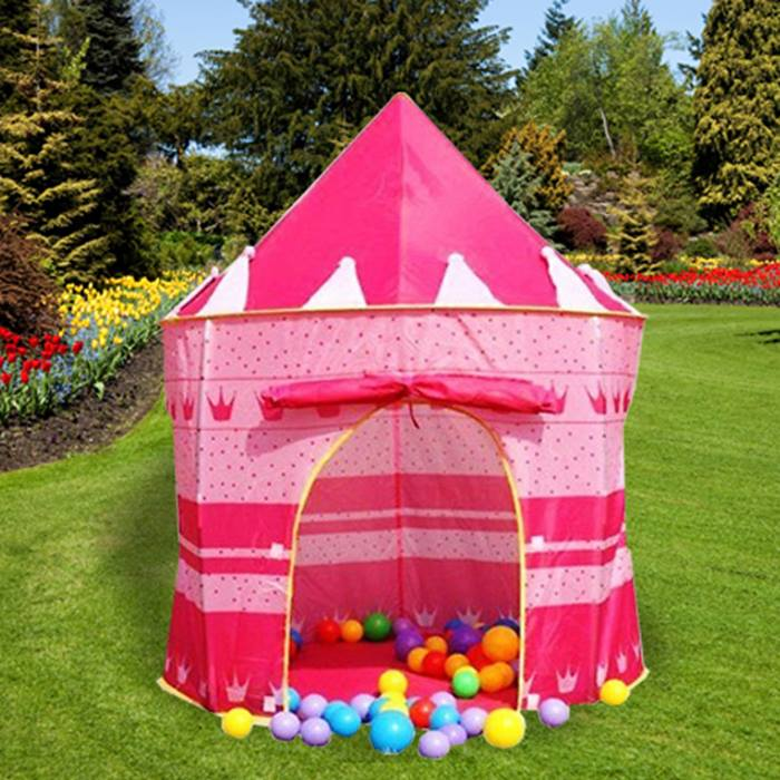 Children's Pop Up Castle Playhouse - 2 Colours