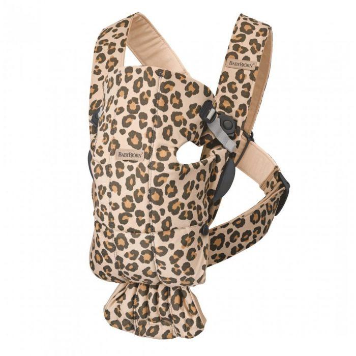 Babybjorn Baby Carrier Mini Cotton - Beige/Leopard
