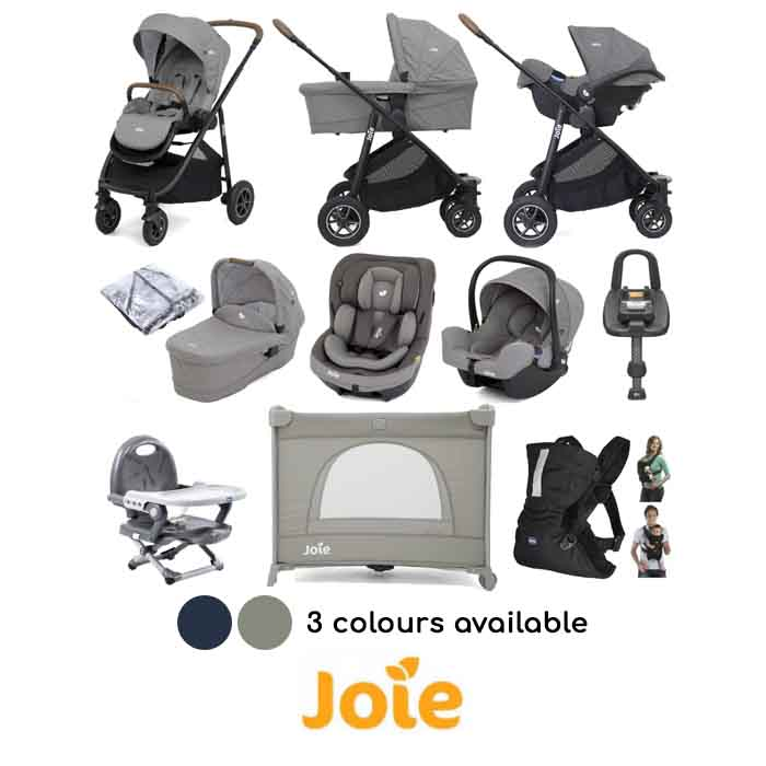 Joie Versatrax (i-Snug + i-Venture) Everything You Need Travel System Bundle & ISOFIX Base
