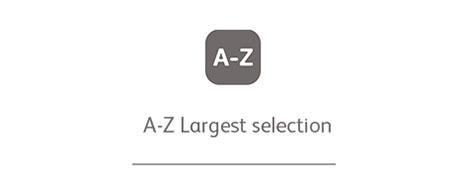 A-Z Largest selection