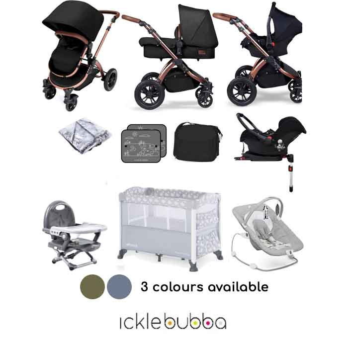 Ickle Bubba Special Edition Stomp V4 (Galaxy) Everything You Need Travel System Bundle (With Base)