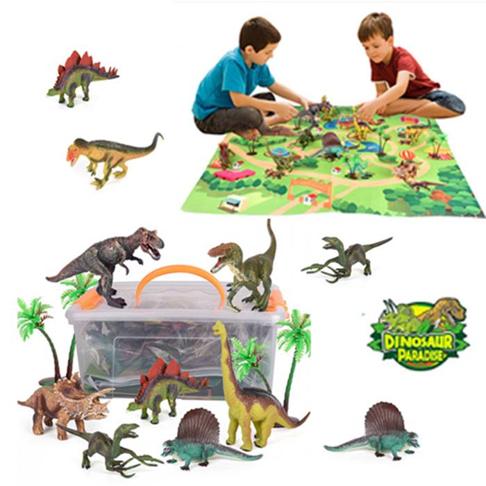 Dinosaur Toy Play Mat With 9 Dinosaurs