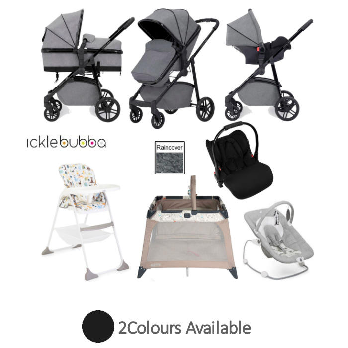 Ickle Bubba Moon Everything You Need 3 in 1 Travel System Bundle