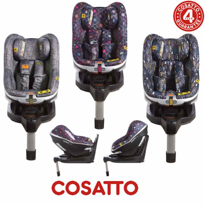Cosatto Den i-Size Group 0+ / 1 Isofix Car Seat with Base - Grey Dawn Chorus