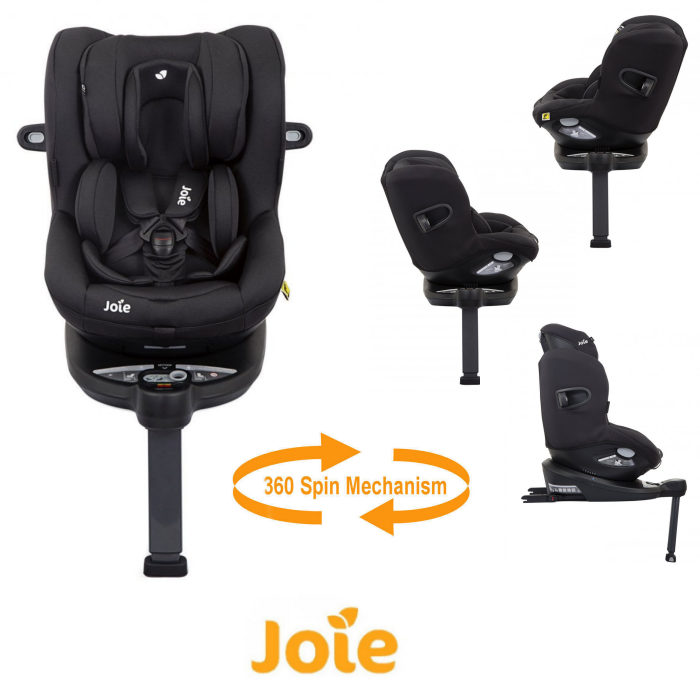 Joie i-Spin 360 iSize Group 0+/1 Car Seat - Coal