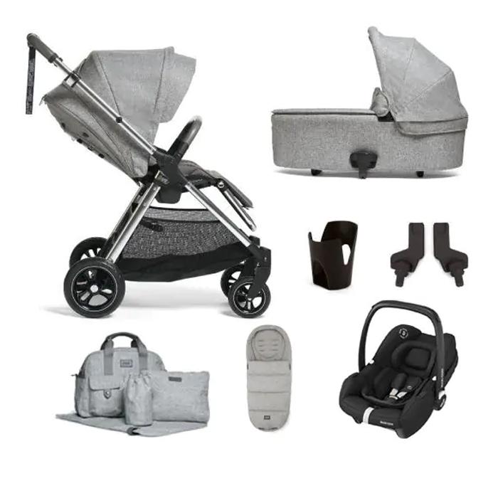 Mamas & Papas FlipXT3 7 pcs Pram Bundle - Skyline Grey