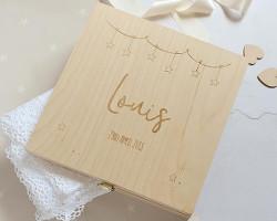 Etsy wooden keepsake box