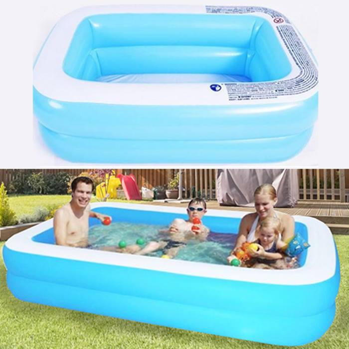 Inflatable Rectangular Swimming Pool - 3 Sizes
