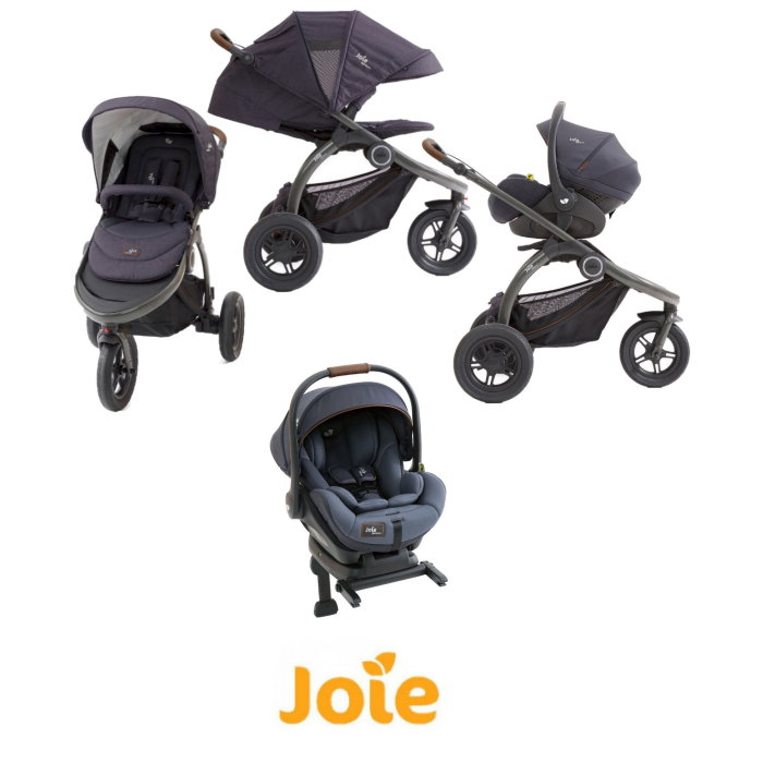 Joie Crosster (i-Level) Travel System with ISOFIX Base - Granit Bleu