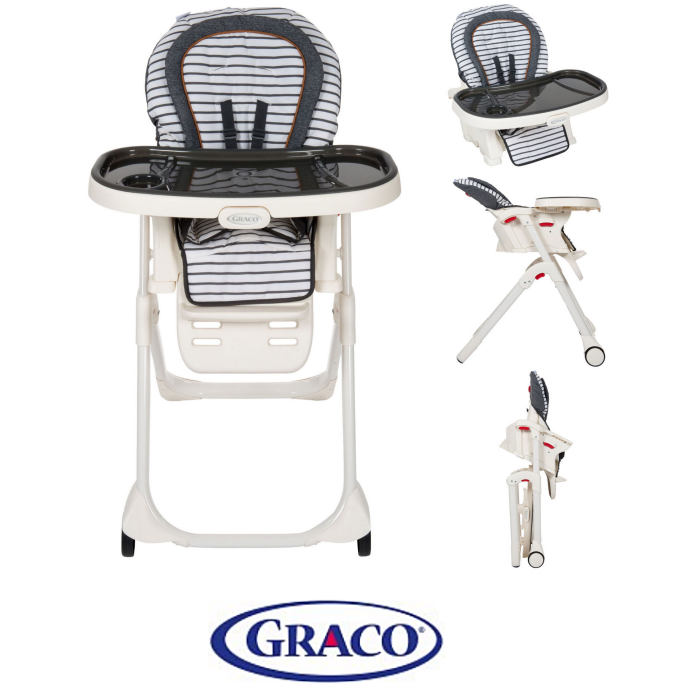 Graco Table2Boost 2in1 Highchair Booster - Breton Stripe