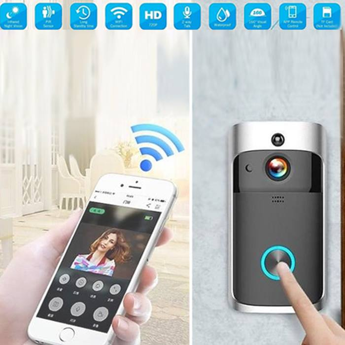 Smart Wireless Wi-Fi Door Bell with Video Intercom - Optional 32GB Storage