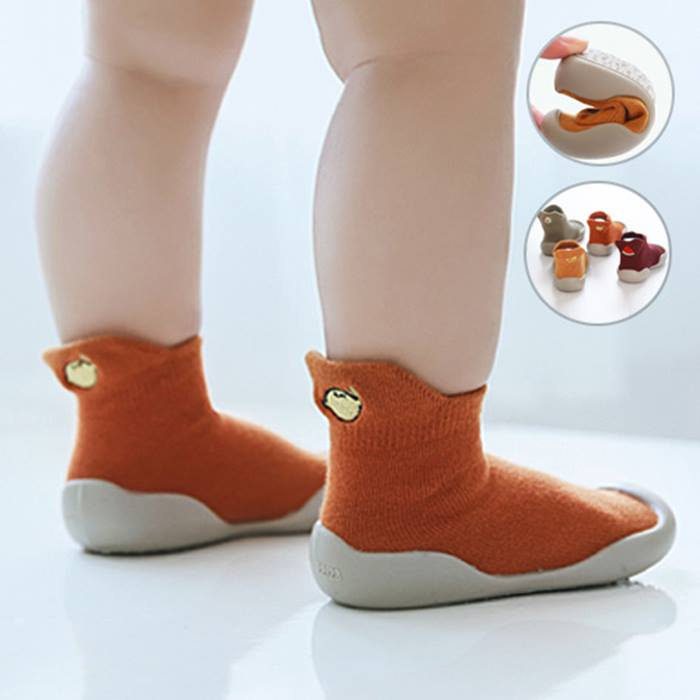 Baby Sock Shoes with Anti-Slip Soles - 5 Colours & 5 Sizes