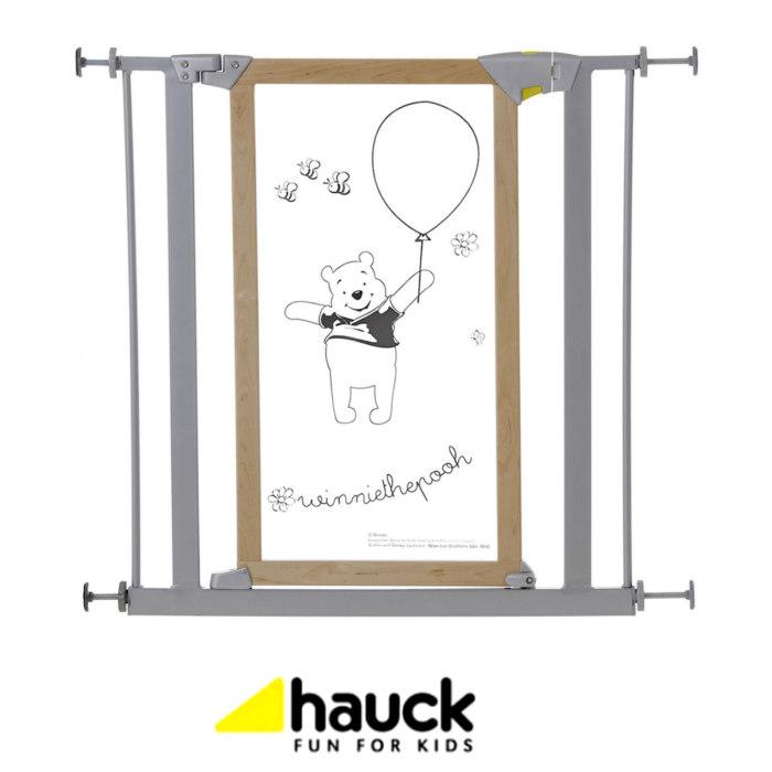 Hauck Disney Designer Winnie The Pooh Trigger Lock Safety Gate - Wood / Metal (75 - 81cm)