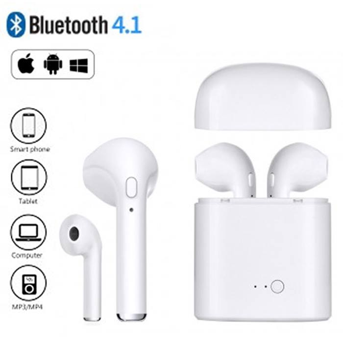 Apple & Android Compatible Wireless Earbuds - 3 Colours & Optional Charger - Free Delivery!