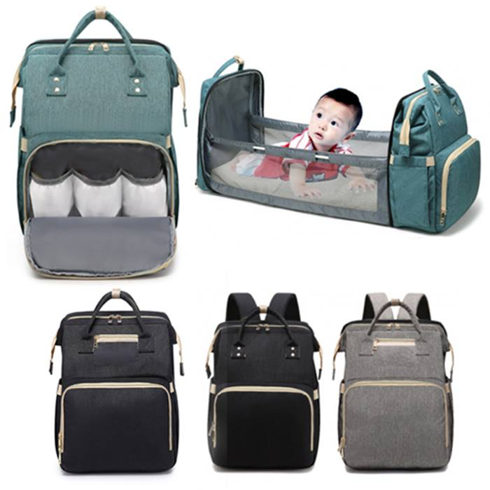 Baby Bag With Foldable Bed Function - 4 Colours