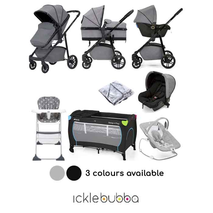 Ickle Bubba Moon 3 in 1 (Astral) Everything You Need Travel System Bundle