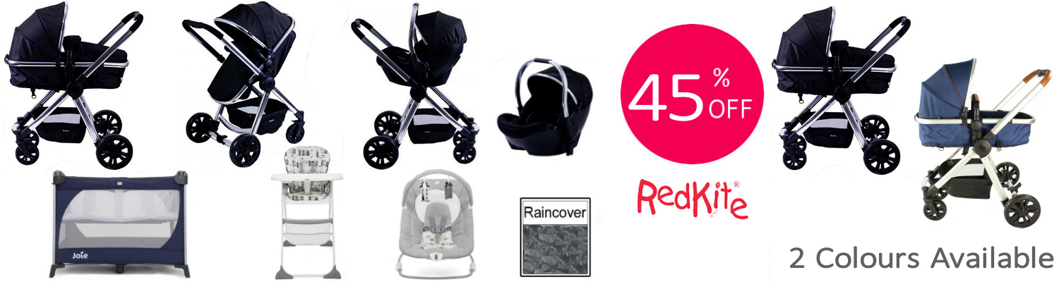 Red Kite Joie Push Me Fusion Everything You Need Travel System Bundle