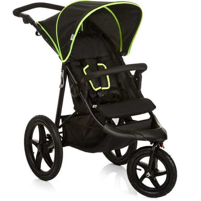 Hauck Runner Stroller (Black/Neon Yellow)