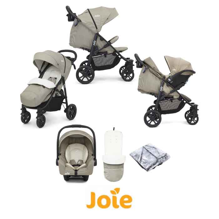Joie Litetrax 4 Wheel (Gemm) Pushchair Travel System