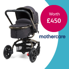 Win a pram from Mothercare on the Bounty app