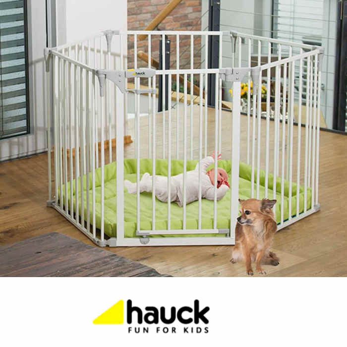 Hauck Baby Park Stair Safety Gate Playpen - White