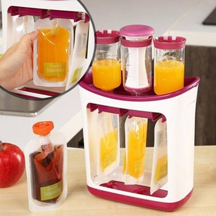 Baby Food Squeeze Station & Optional Storage Bags