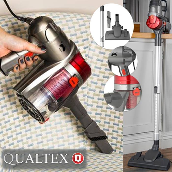 2-in-1 Qualtex Dual Cyclone Bagless Vacuum